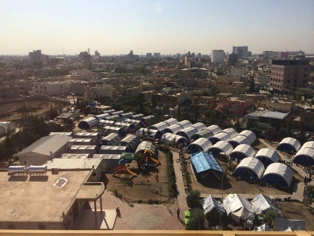 Camp de tentes en 2014
