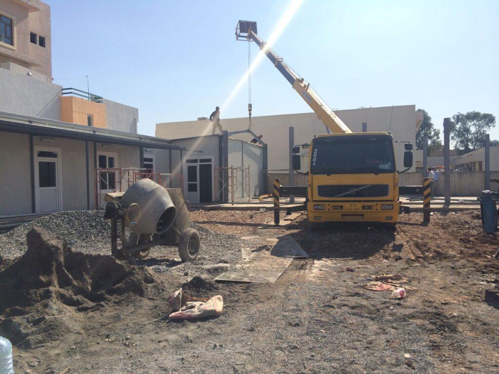 Construction d'une école pour réfugiés