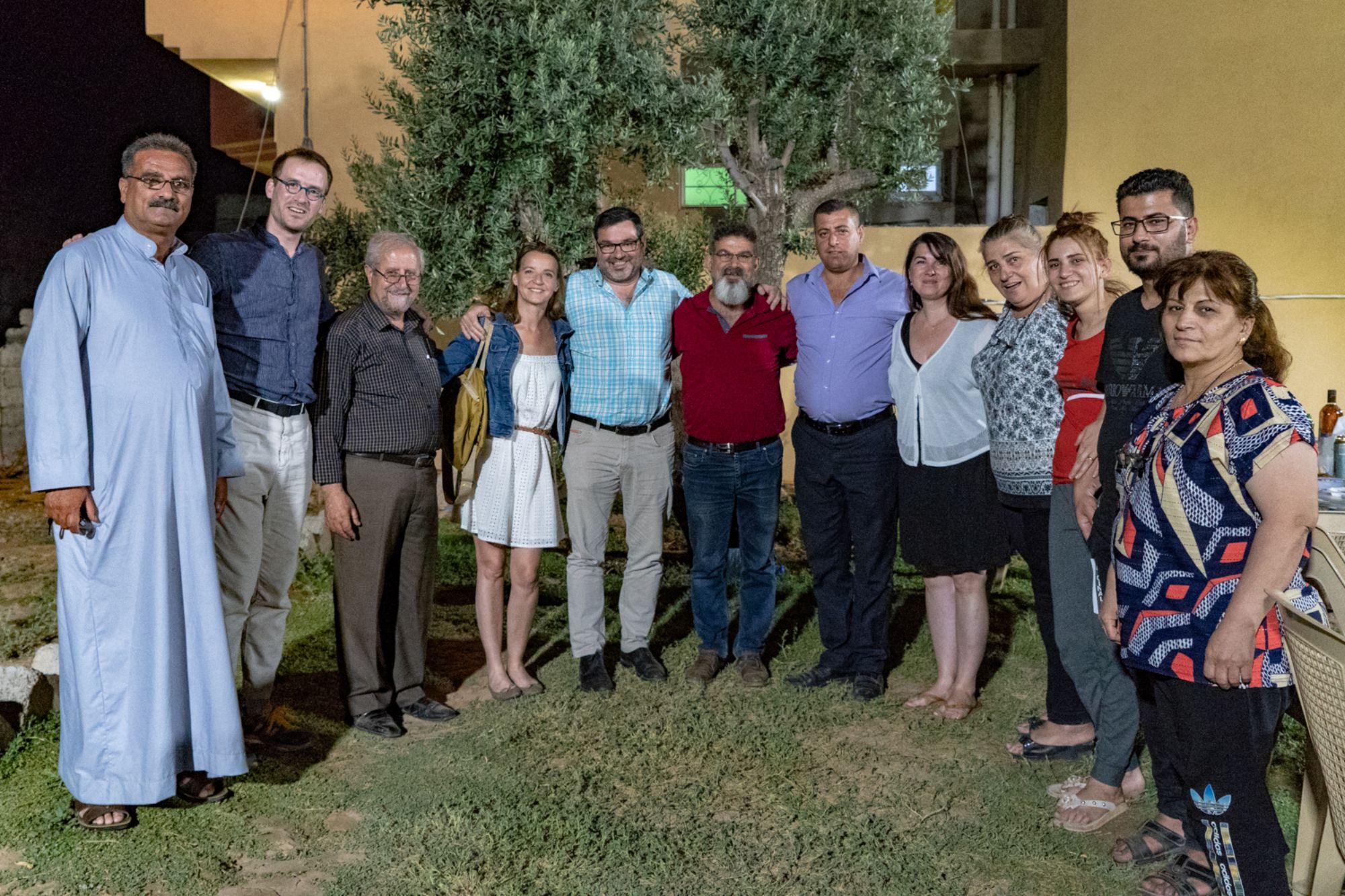 Diner à Bartella avec Espoir Irak