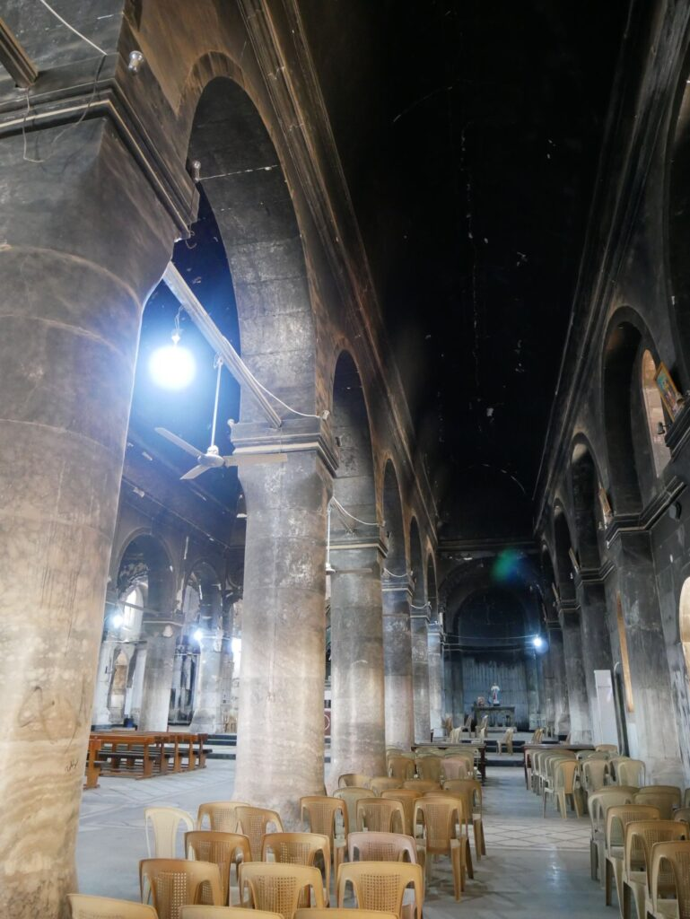 Al tahira à Qaraqosh incendiée par Daech