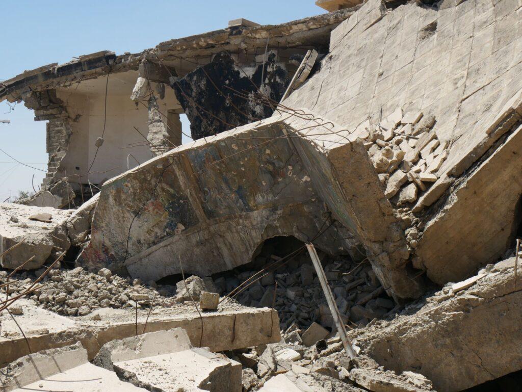 Église effondrée à Mossoul