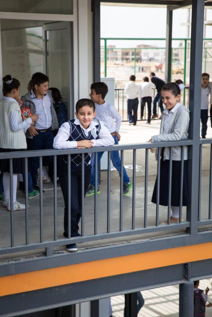 Élèves de l'école Al Bishara à Erbil