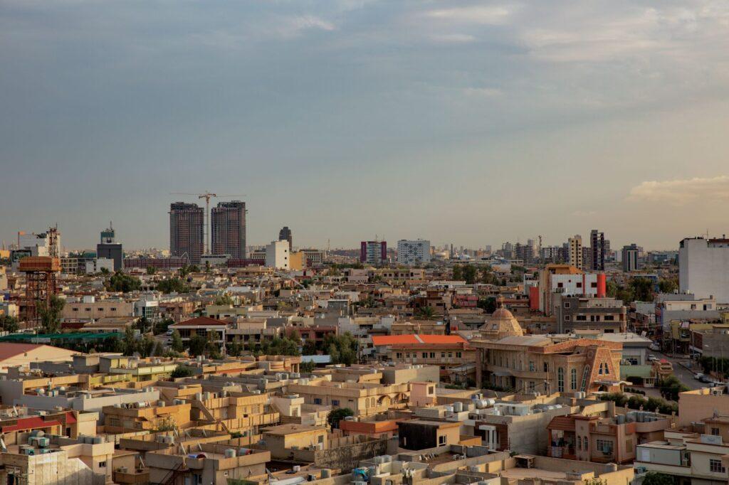 Erbil vue des toits
