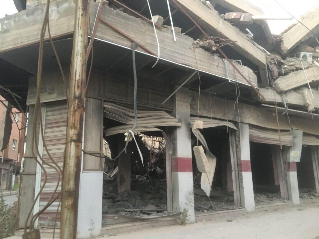 Immeuble détruit à Mossoul