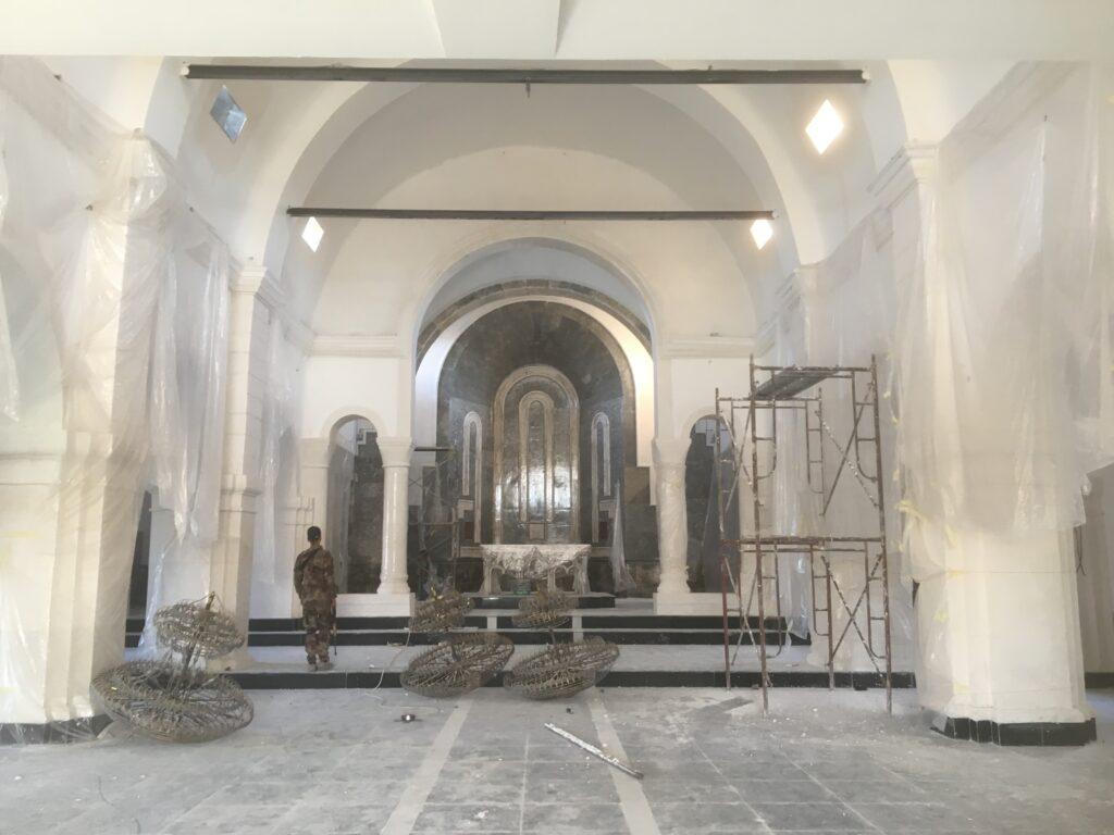 L'église de Bartella en reconstruction