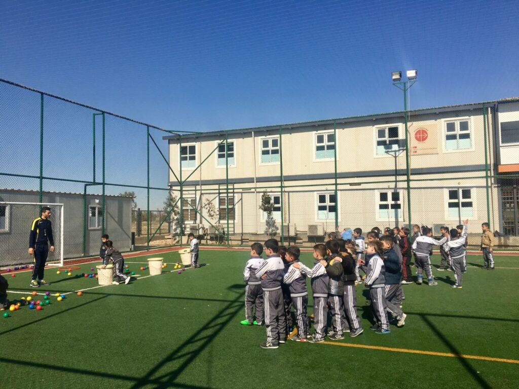 Séance de sport à l'école Al Bishara à Erbil