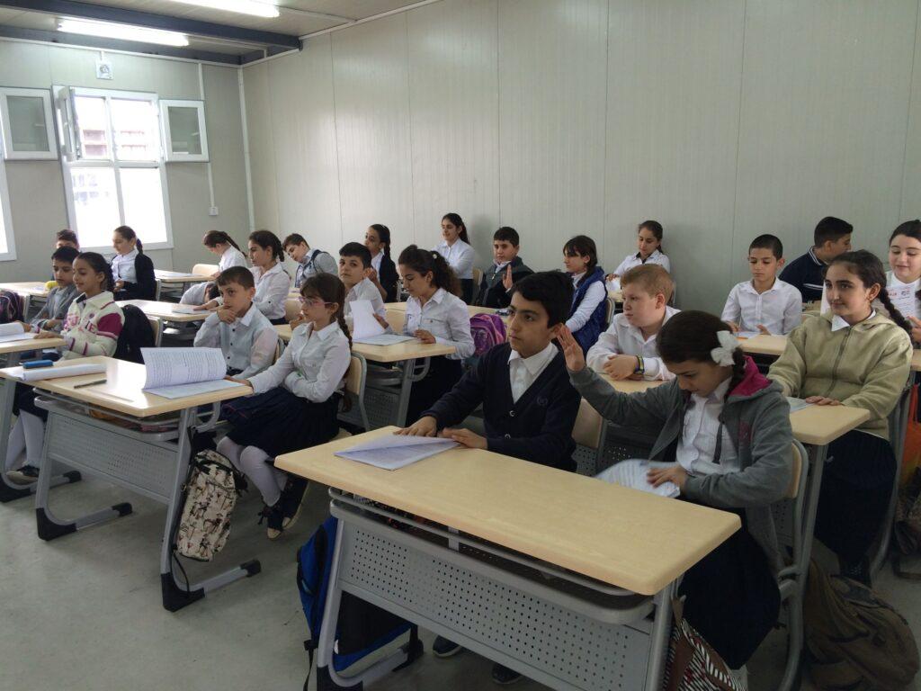 Une classe à l'école Al Bishara à Erbil