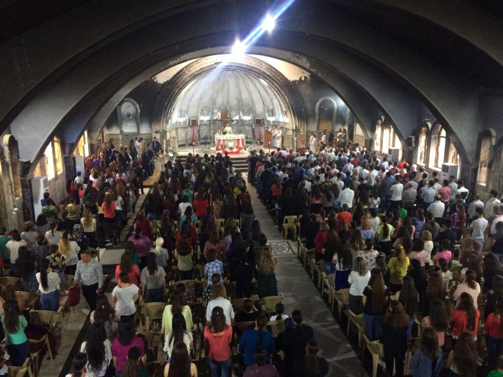 Une messe à Qaraqosh en 2019