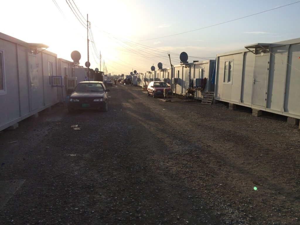 Vue du camp d'Ashti à Erbil