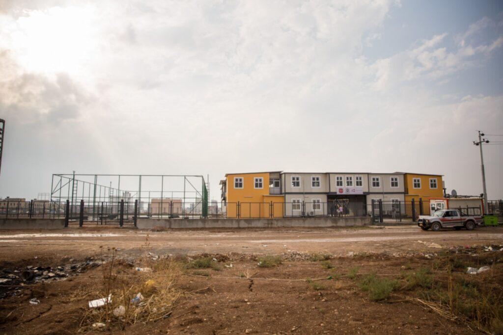 École Al Bishara à Erbil de l'extérieur
